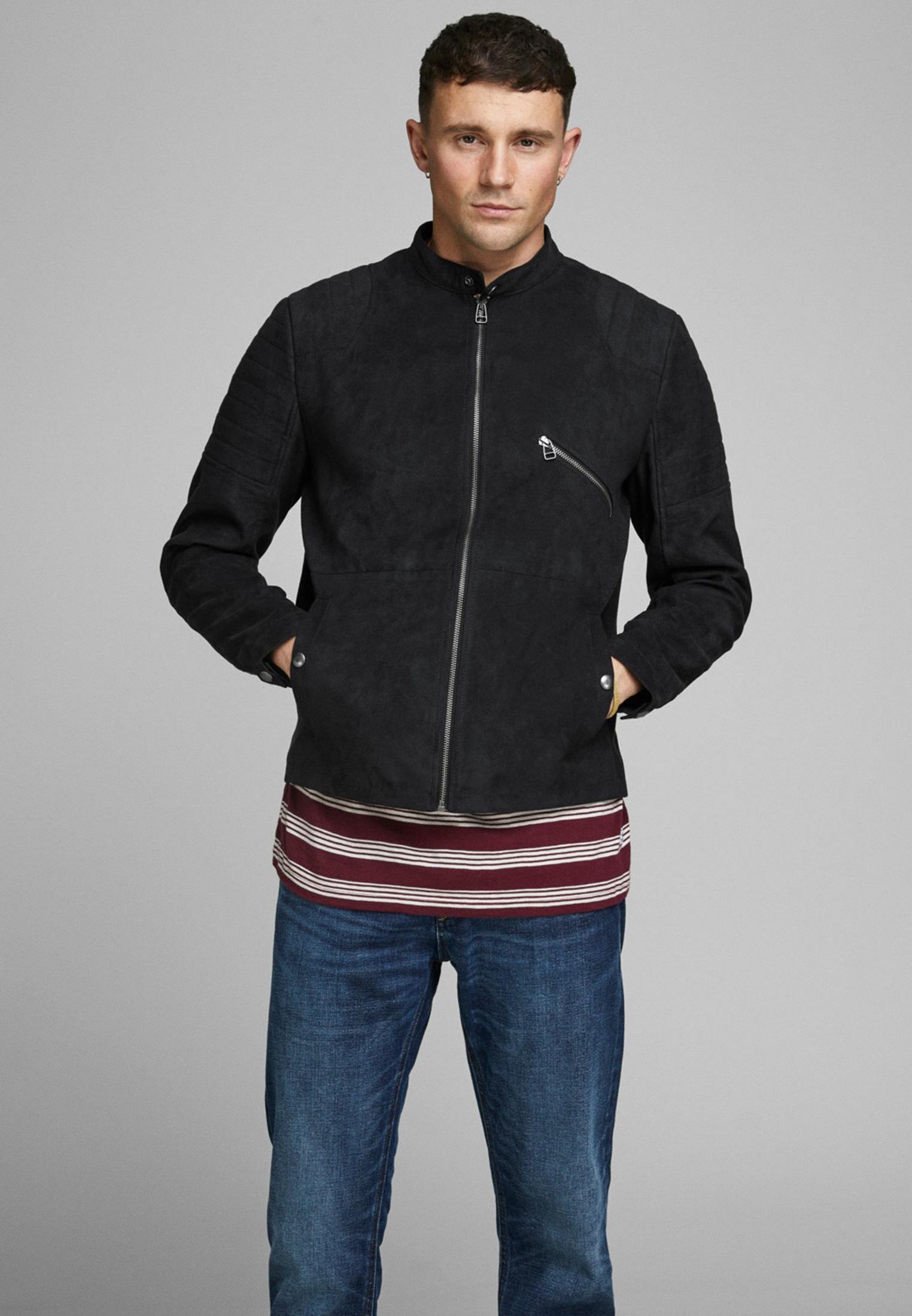 Кожаная куртка Jack & Jones (Джек Энд Джонс) 12164097