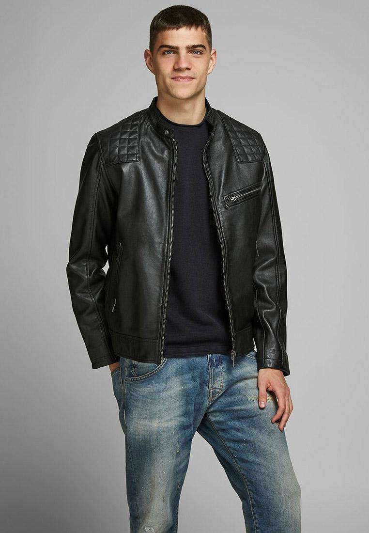Кожаная куртка Jack & Jones (Джек Энд Джонс) 12173191