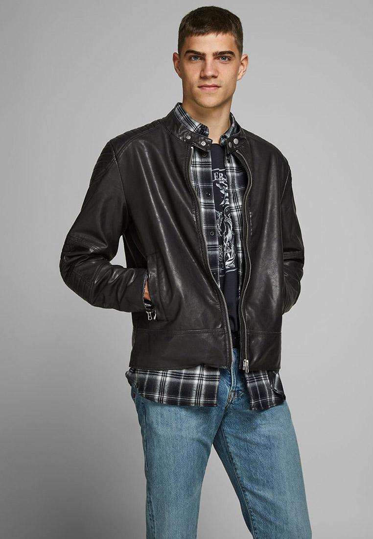 Кожаная куртка Jack & Jones (Джек Энд Джонс) 12177848