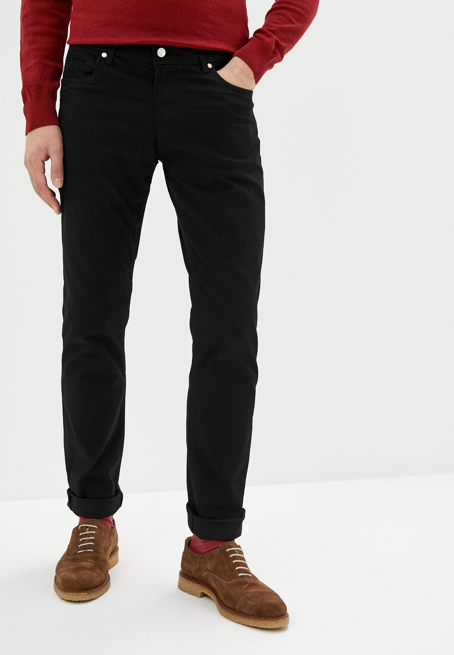 Мужские повседневные брюки JIMMY SANDERS (Джимми Сандерс) 19W PM11002 BLACK