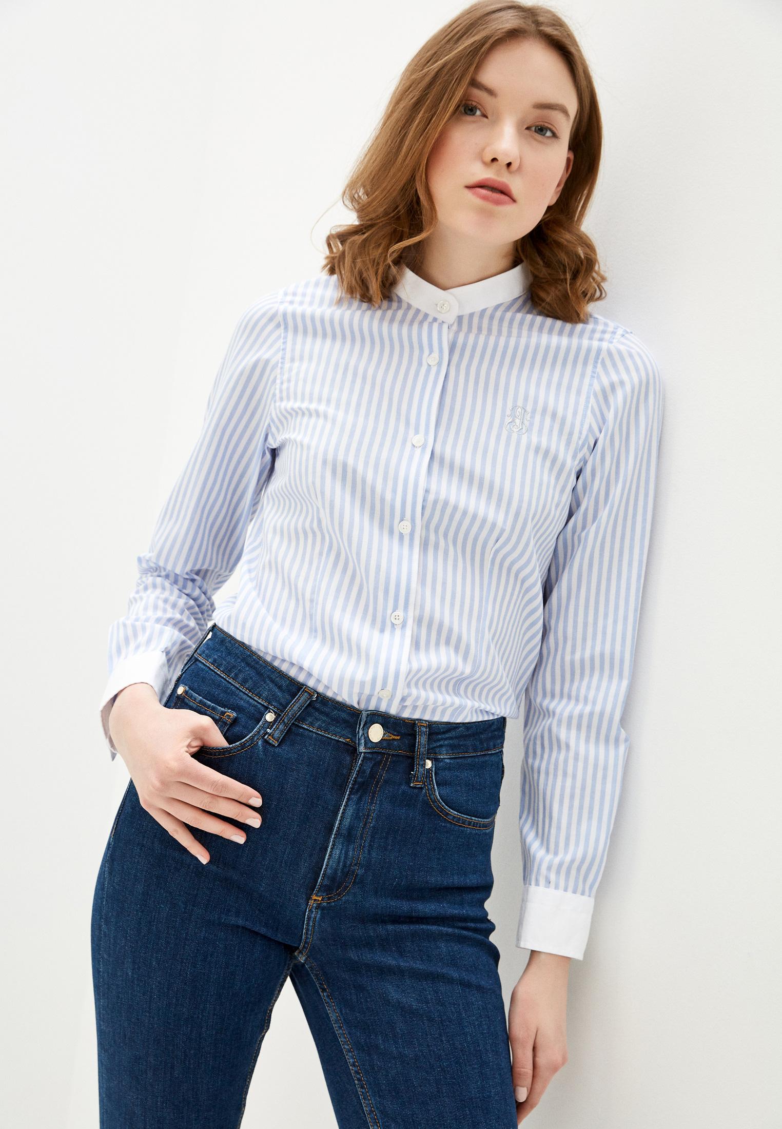 Женские рубашки с длинным рукавом JIMMY SANDERS (Джимми Сандерс) 19S SHW4035 BABY BLUE