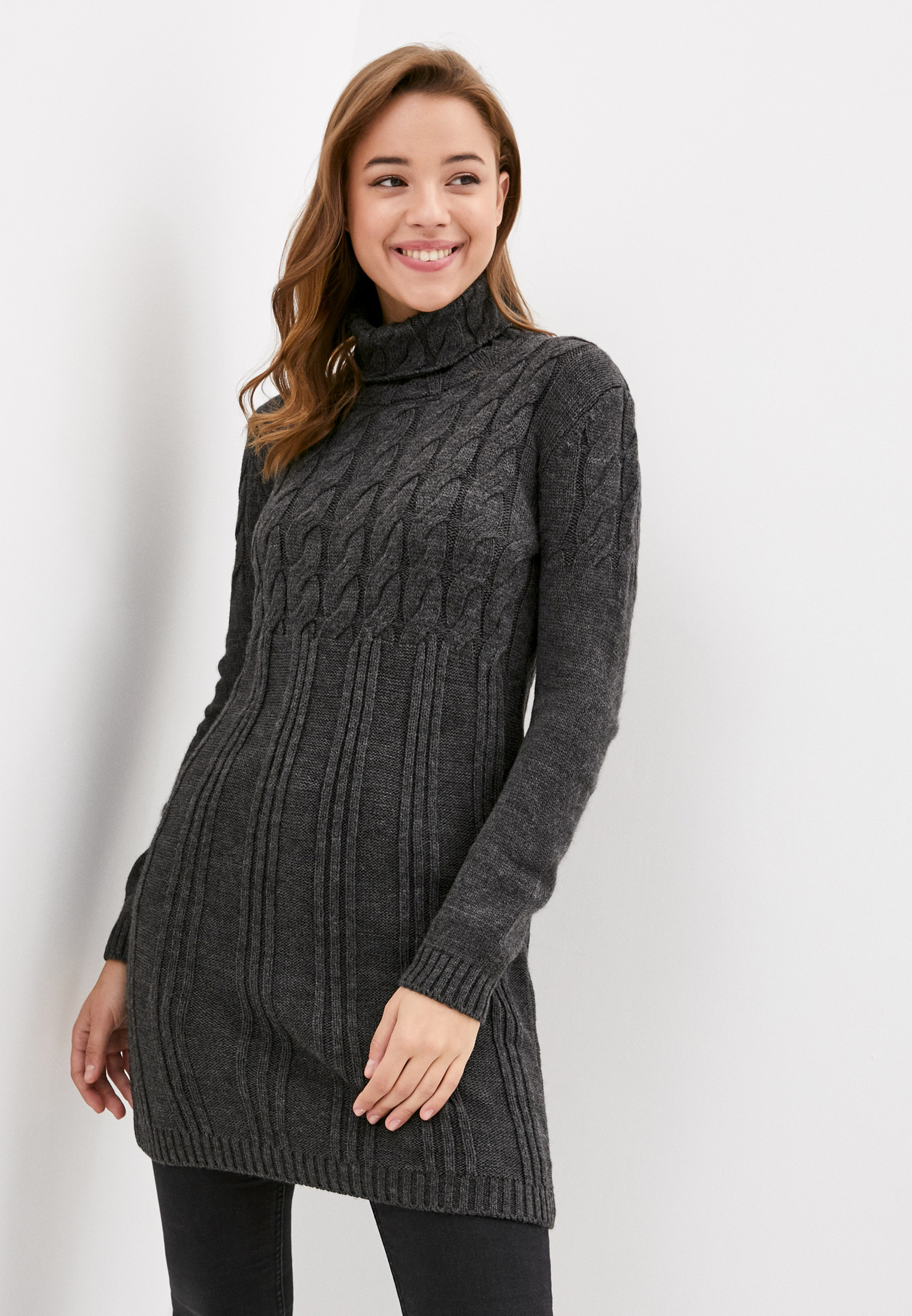 Вязаное платье JIMMY SANDERS (Джимми Сандерс) 19W KW6065 ANTHRACITE