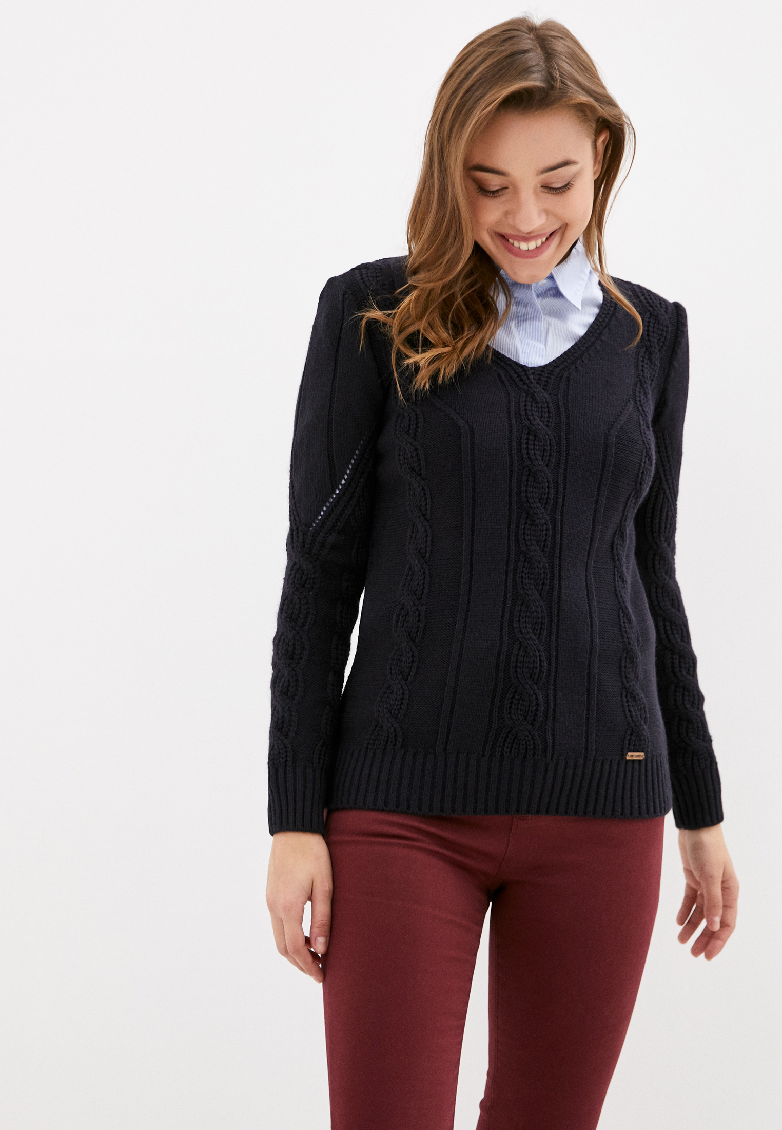 Пуловер JIMMY SANDERS (Джимми Сандерс) 19W KW6061 NAVY