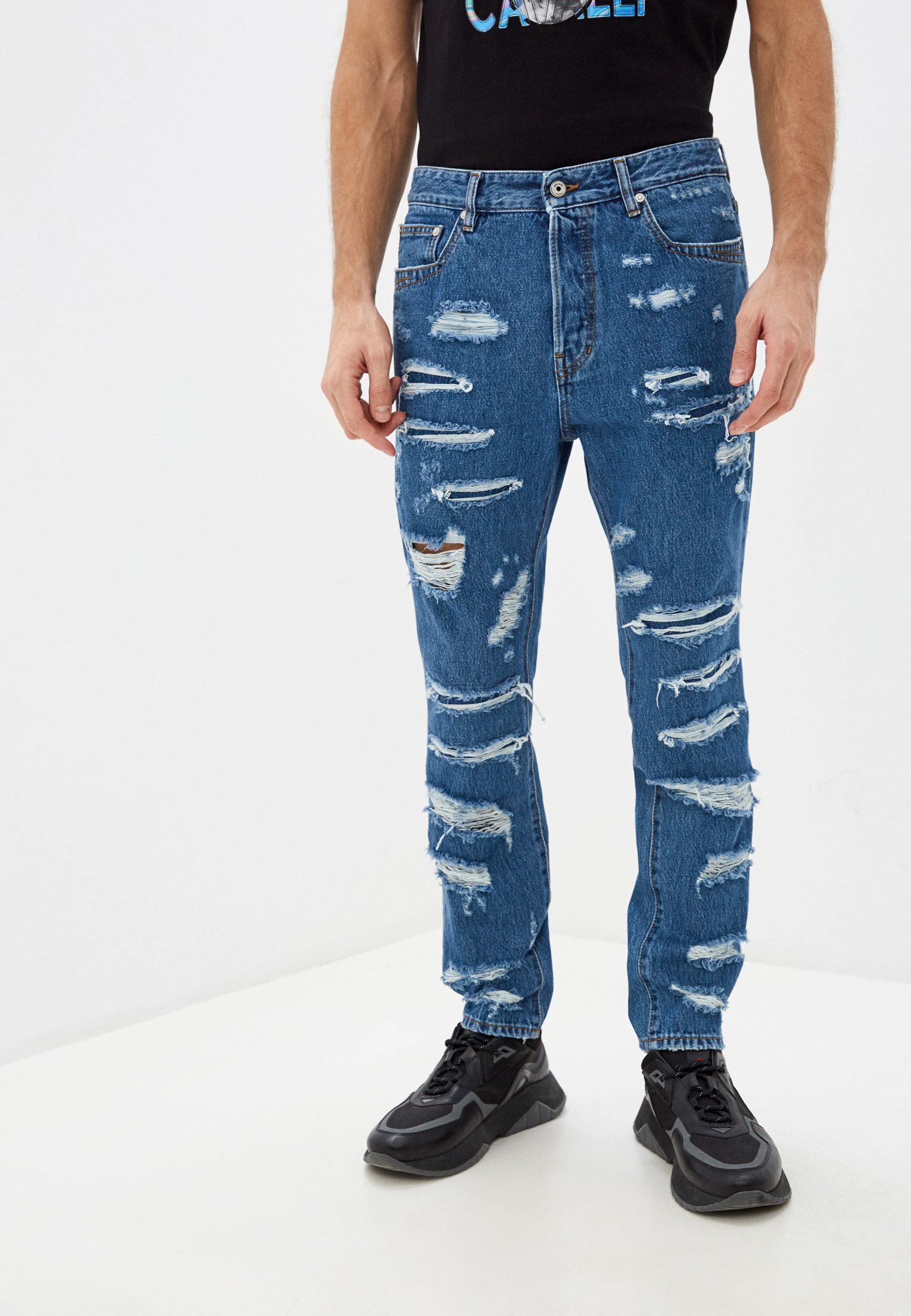 Мужские зауженные джинсы Just Cavalli (Джаст Кавалли) s01la0123