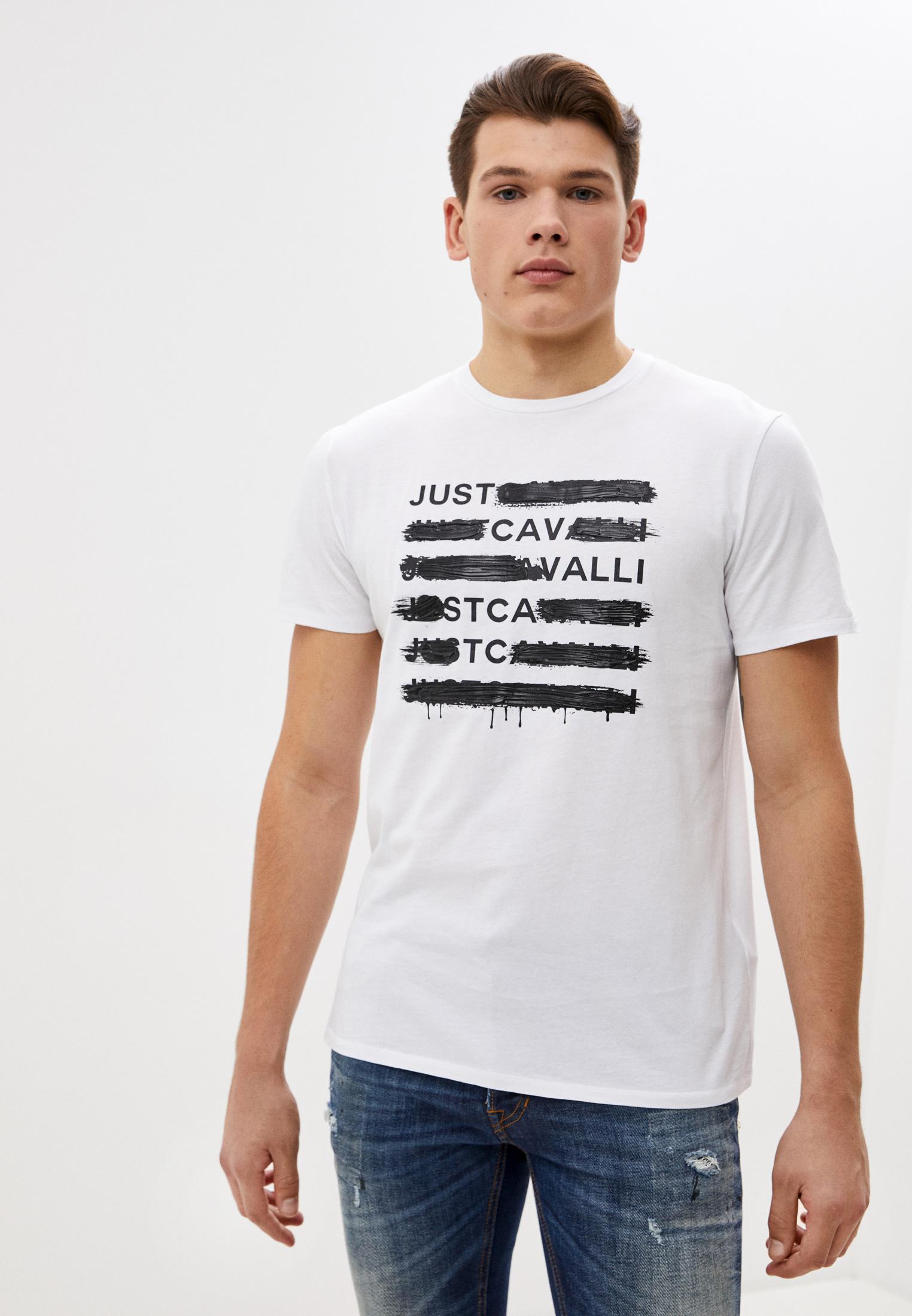 Мужская футболка Just Cavalli (Джаст Кавалли) s03gc0615N20663