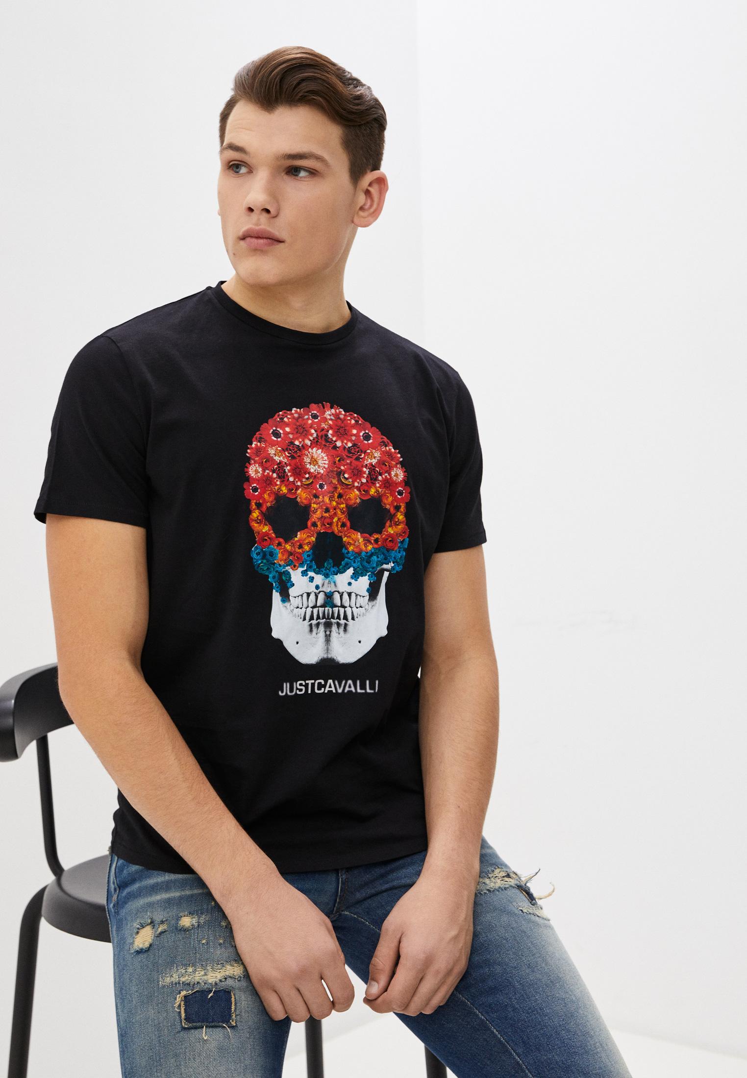 Мужская футболка Just Cavalli (Джаст Кавалли) s03gc0616N20663