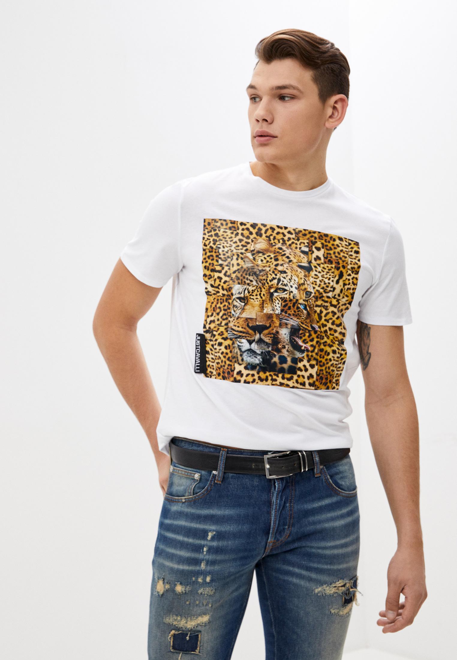 Мужская футболка Just Cavalli (Джаст Кавалли) s03gc0609N20663