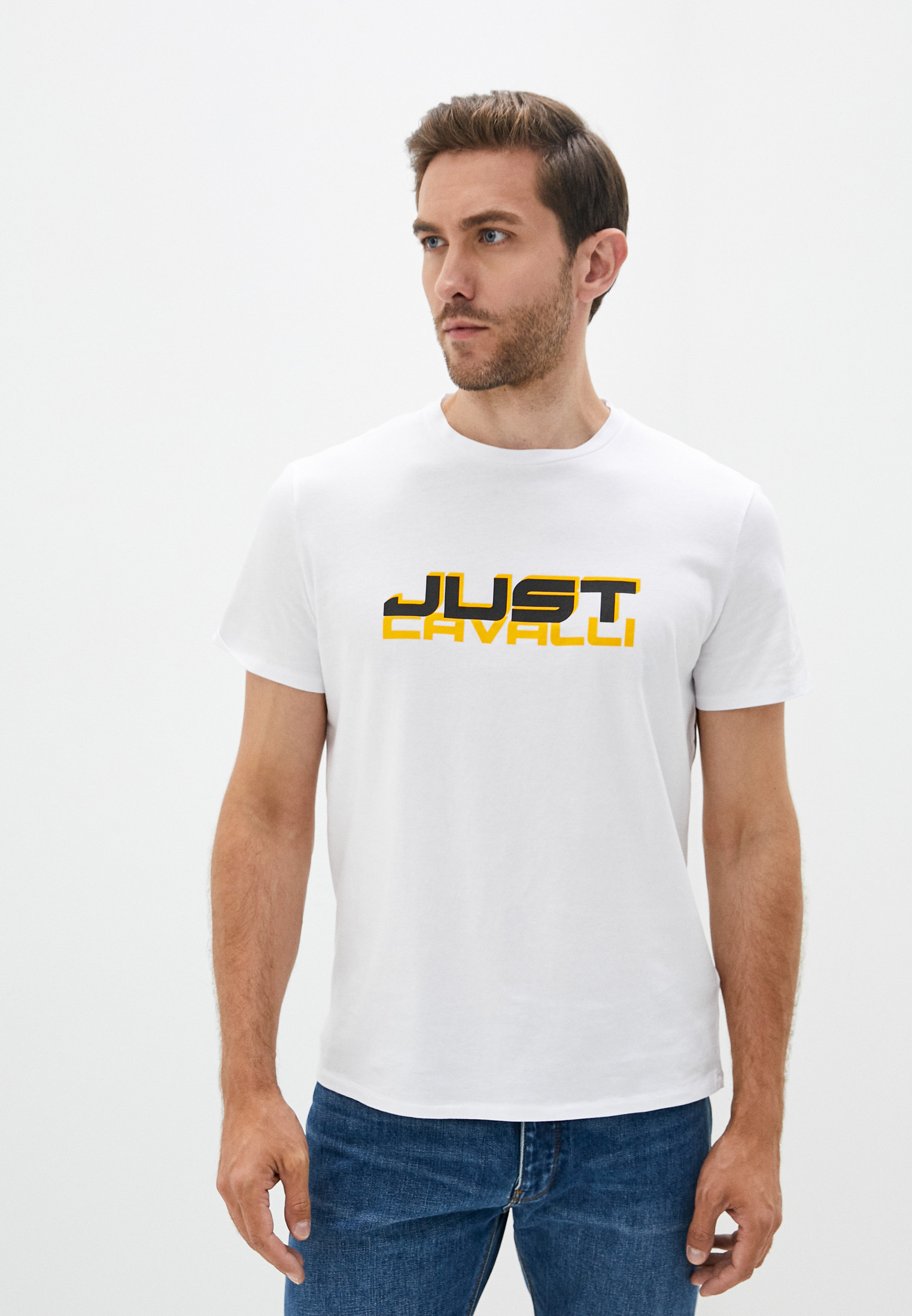 Мужская футболка Just Cavalli (Джаст Кавалли) s01gc0648n20663