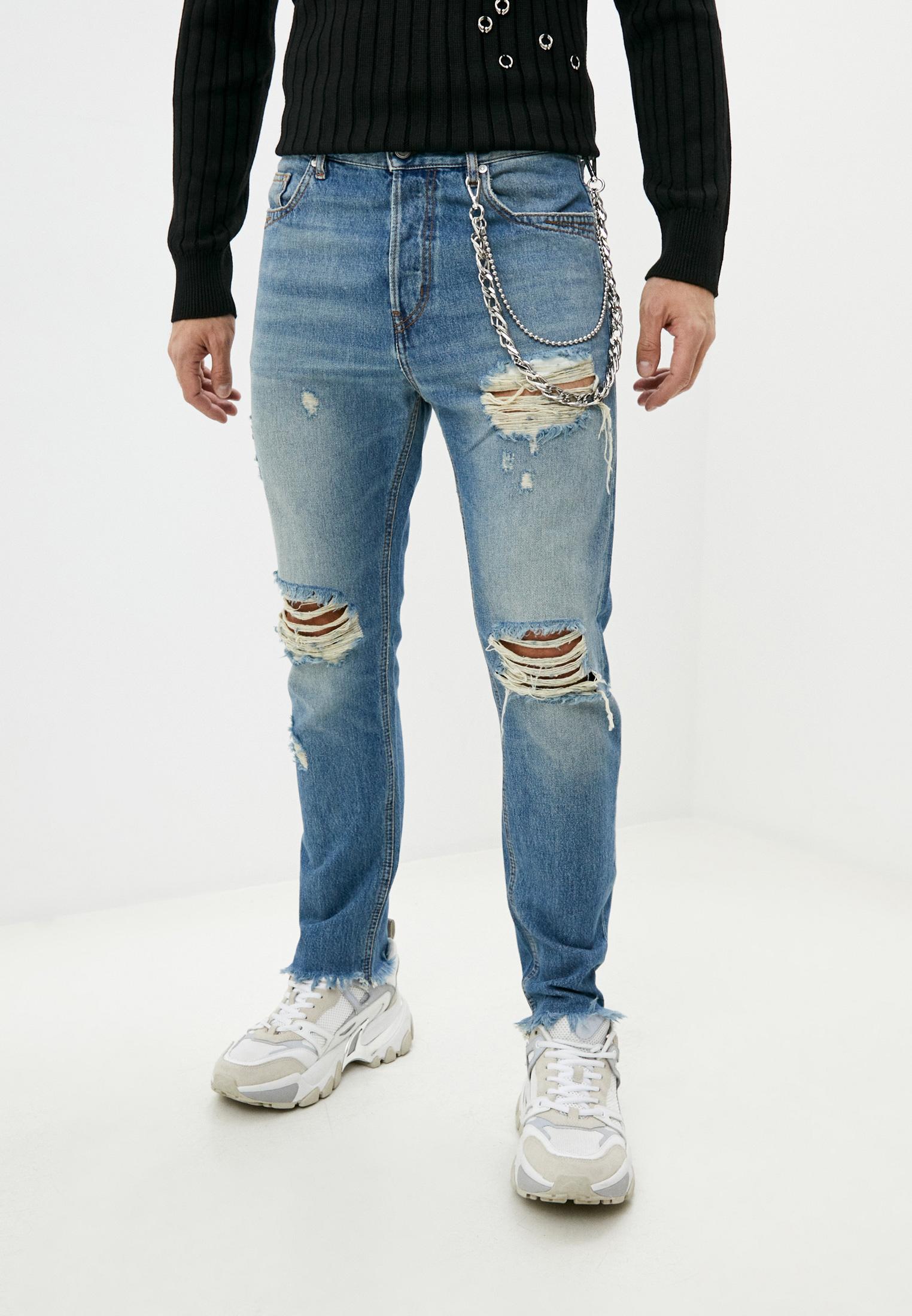 Мужские зауженные джинсы Just Cavalli (Джаст Кавалли) S01LA0090 N31651: изображение 1
