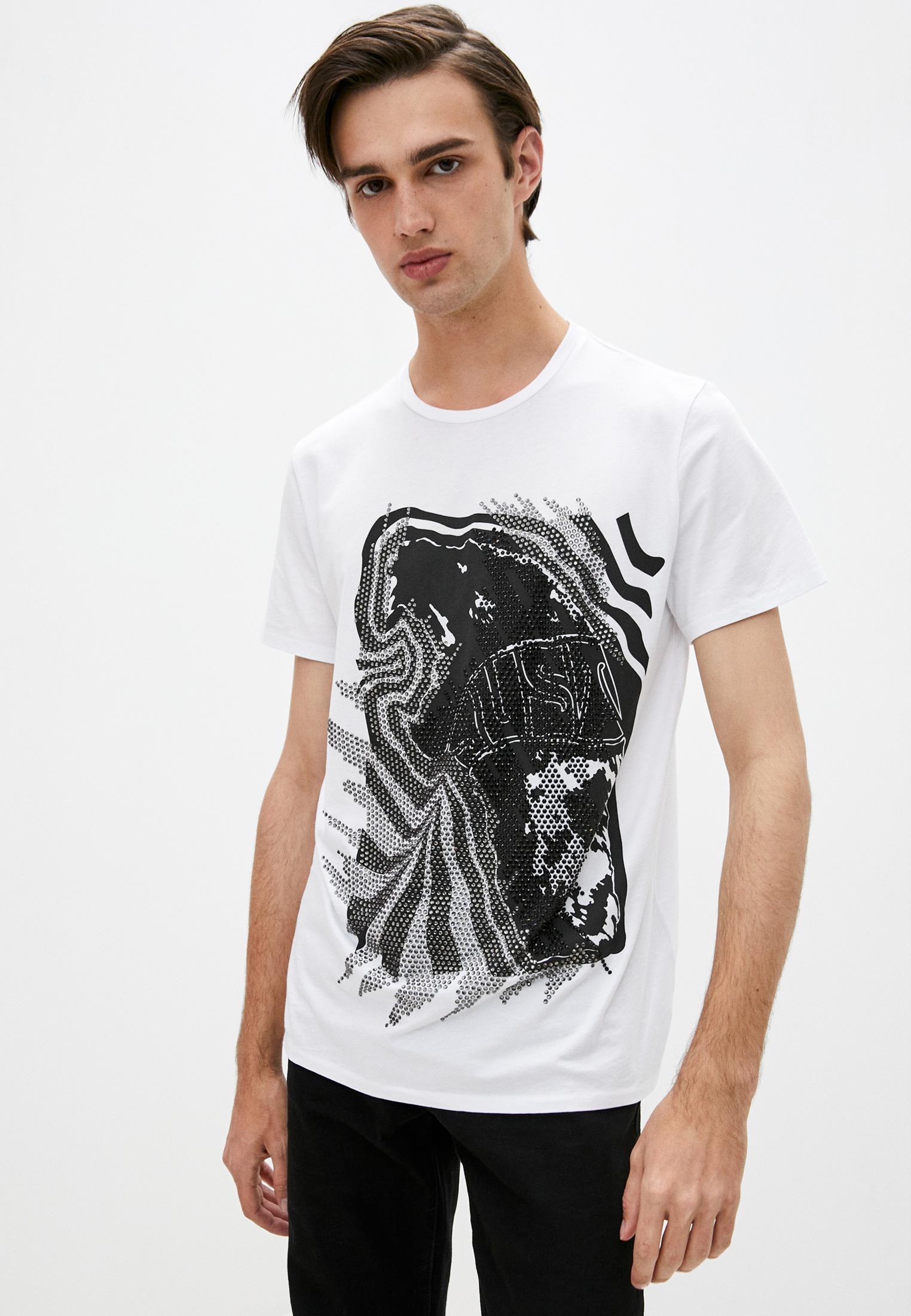 Мужская футболка Just Cavalli (Джаст Кавалли) S01GC0554 N20663