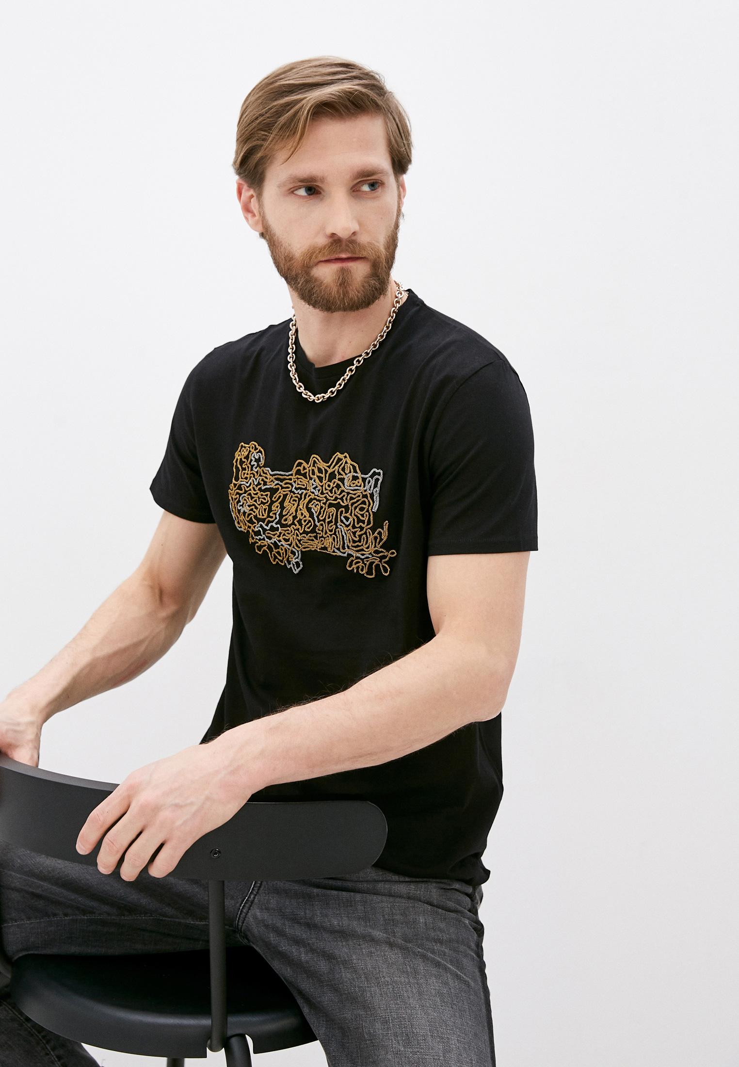 Мужская футболка Just Cavalli (Джаст Кавалли) S01GC0556N20663