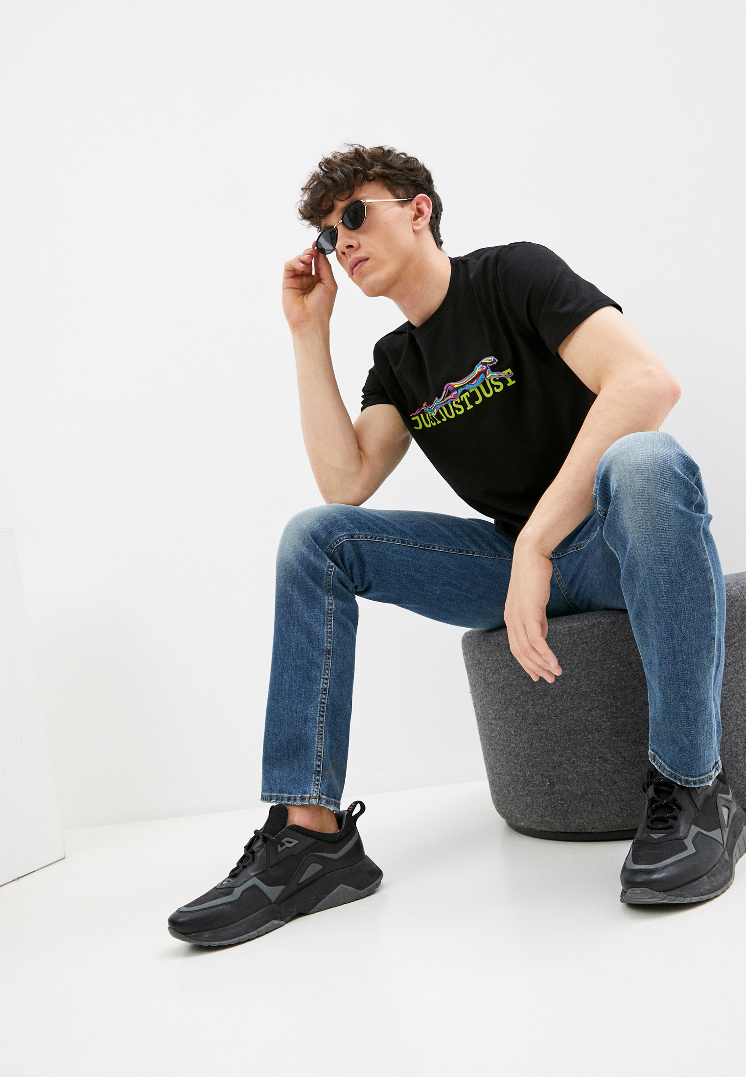 Мужская футболка Just Cavalli (Джаст Кавалли) S01GC0557N20663