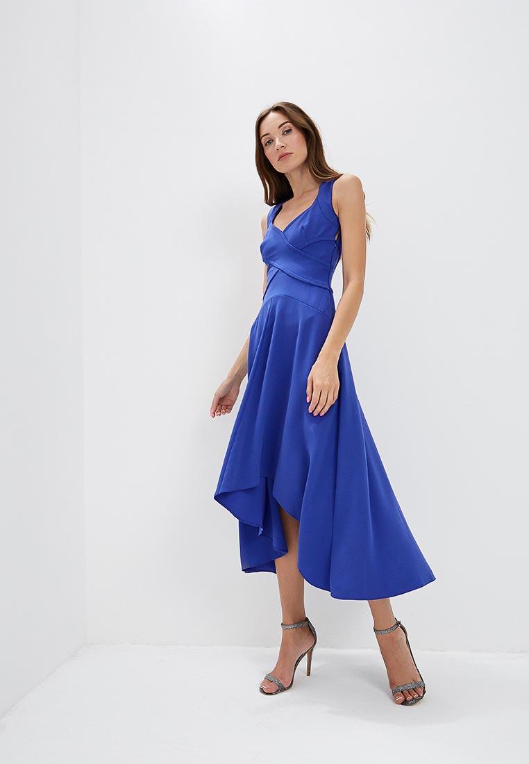 Вечернее / коктейльное платье Karen Millen (Карен Миллен) DC166_BLUE_SS18
