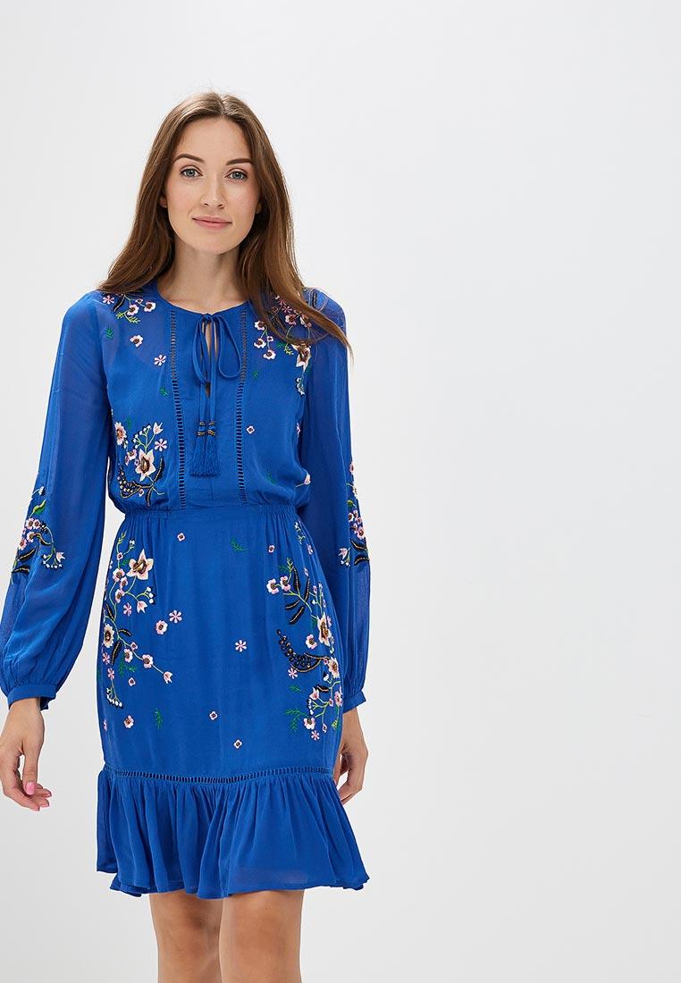 Платье Karen Millen (Карен Миллен) DC232_BLUE_SS18