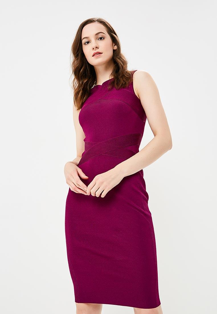 Вязаное платье Karen Millen (Карен Миллен) KD010_PURPLE_AW18