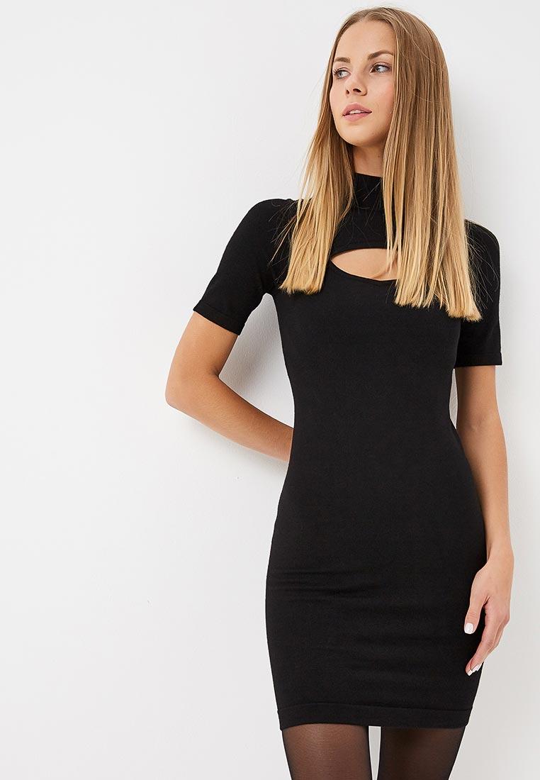 Вязаное платье Karen Millen (Карен Миллен) KD024_BLACK_AW18