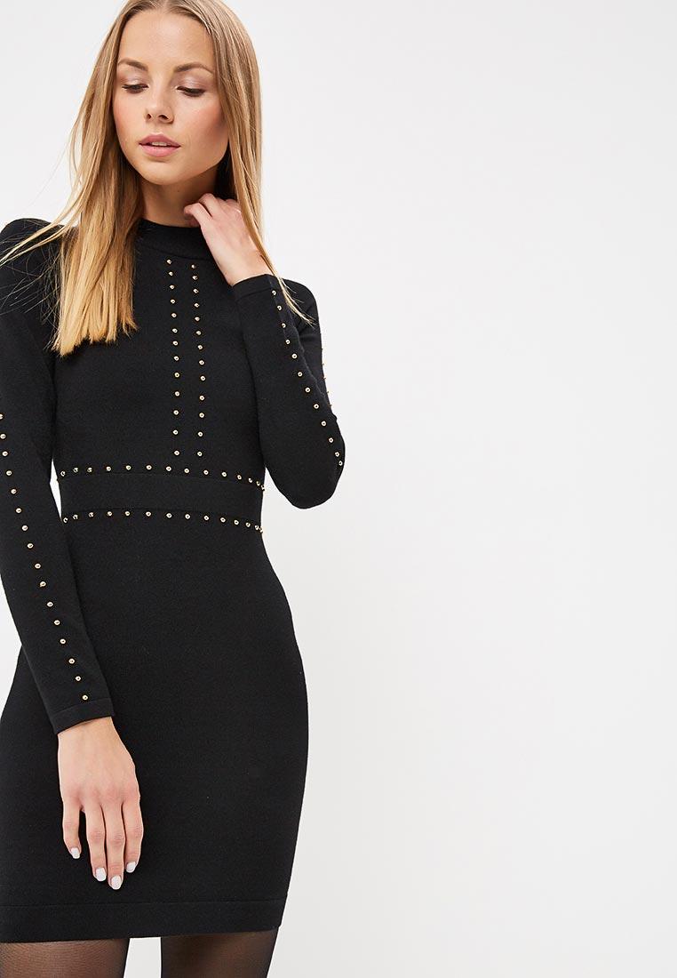 Вязаное платье Karen Millen (Карен Миллен) KD030_BLACK_AW18