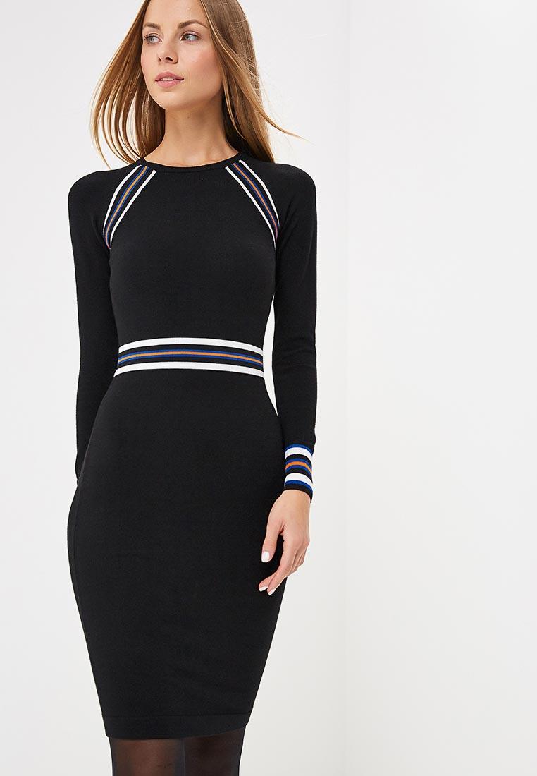 Вязаное платье Karen Millen (Карен Миллен) KD062_BLAMUL_AW18