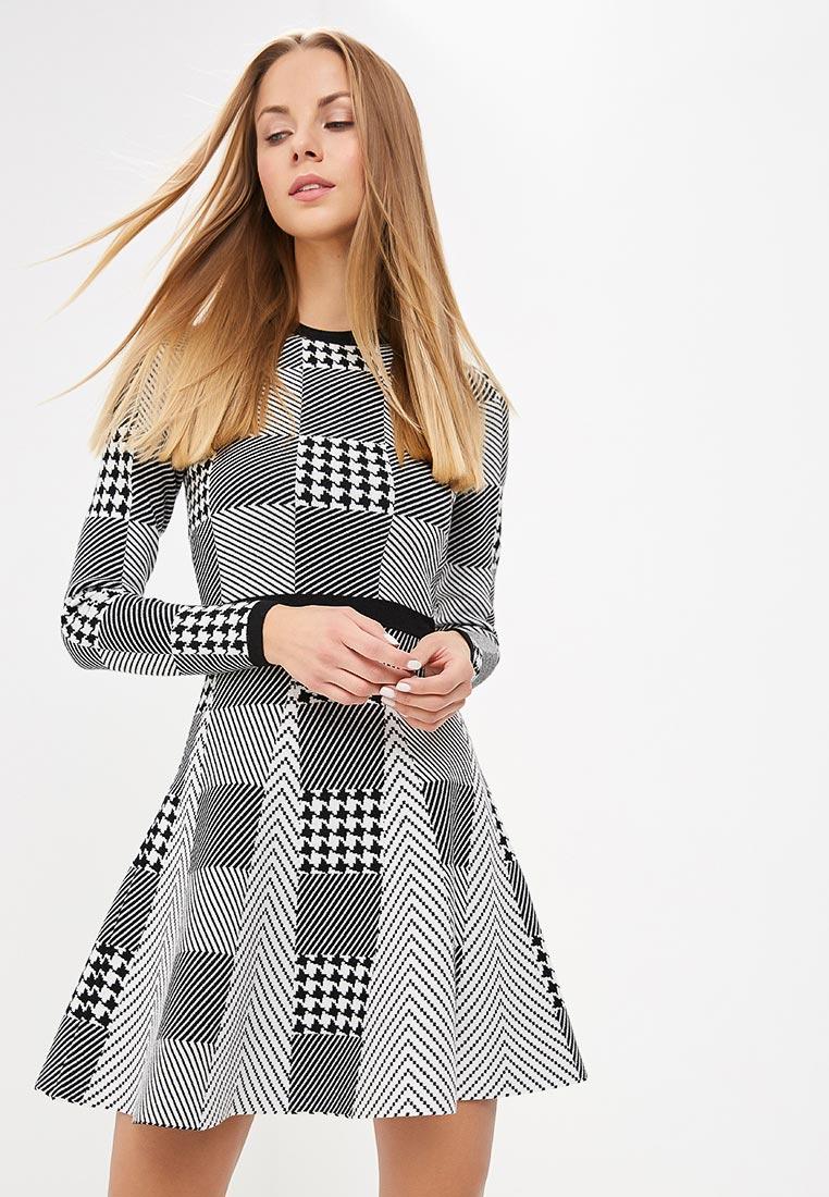Вязаное платье Karen Millen (Карен Миллен) KD094_BLACWH_AW18