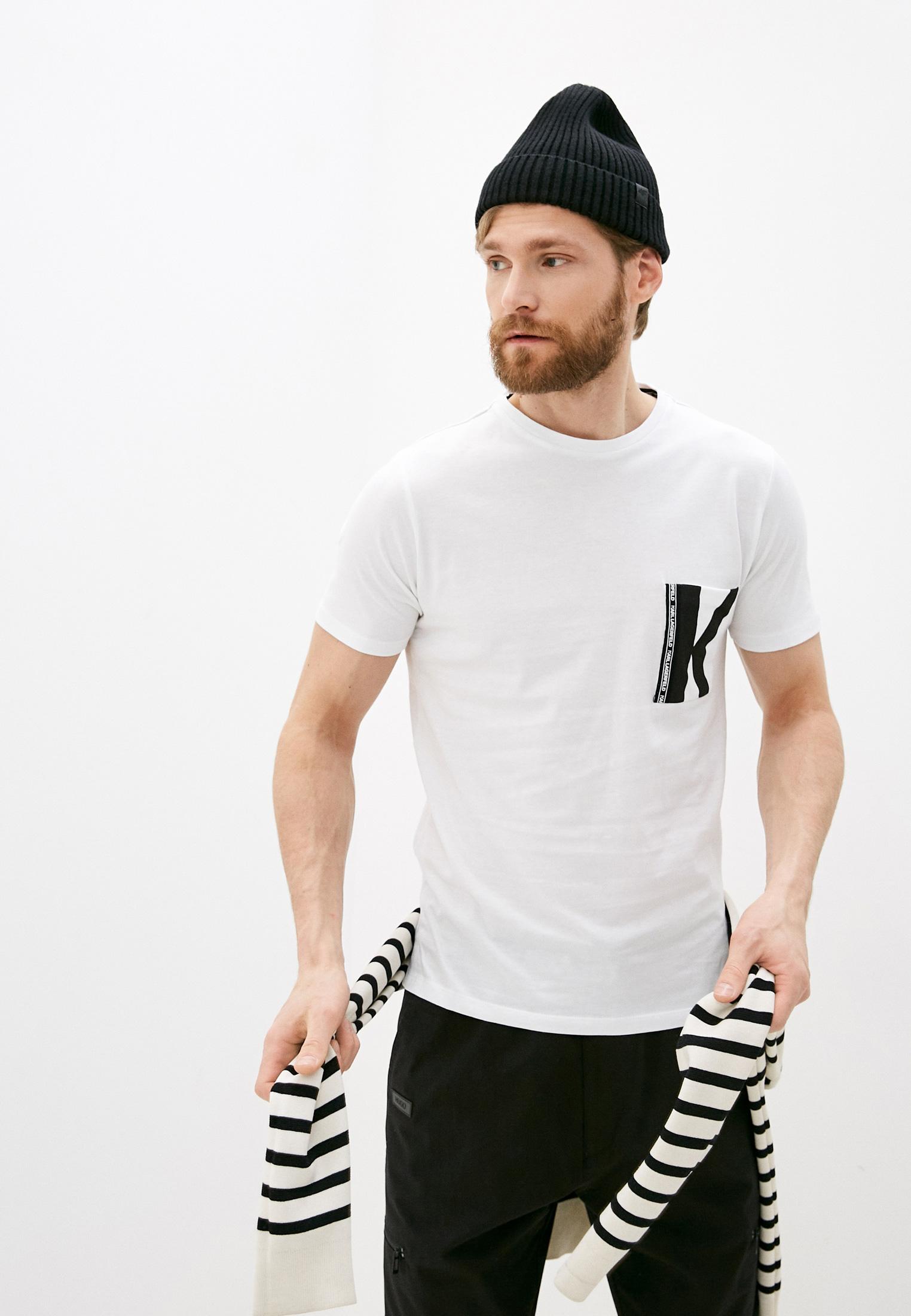 Мужская футболка Karl Lagerfeld (Карл Лагерфельд) KL19MTS01