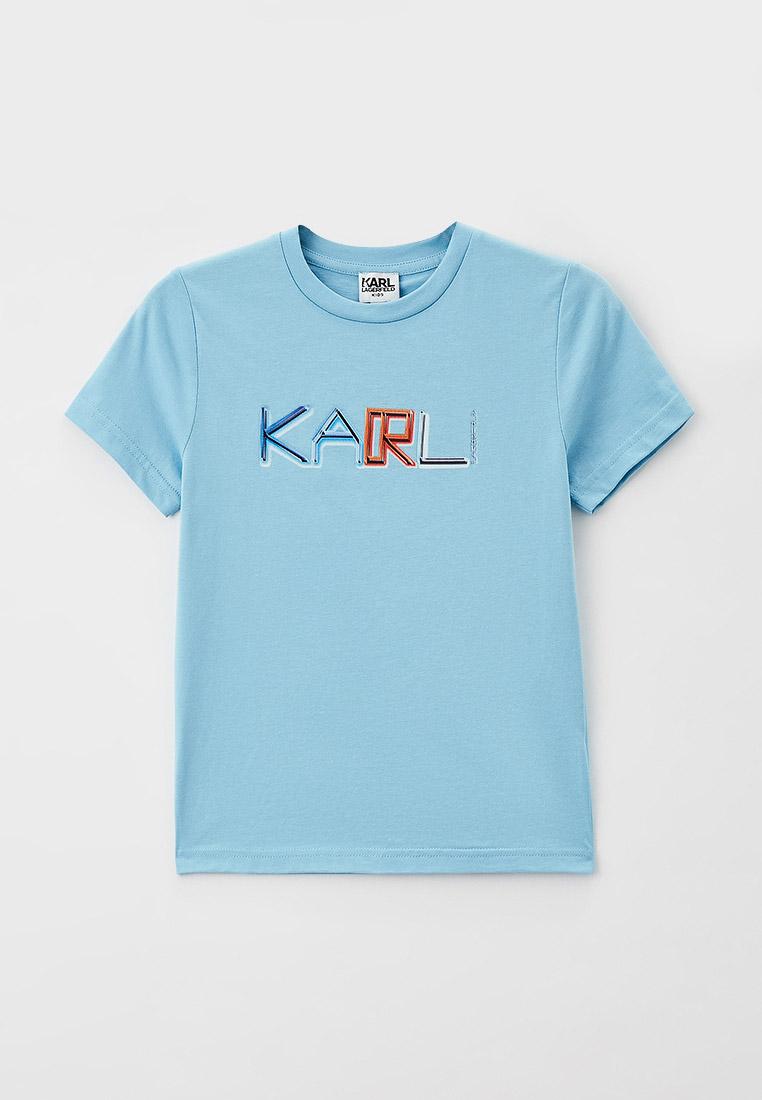Футболка с коротким рукавом KARL LAGERFELD KIDS Футболка Karl Lagerfeld Kids
