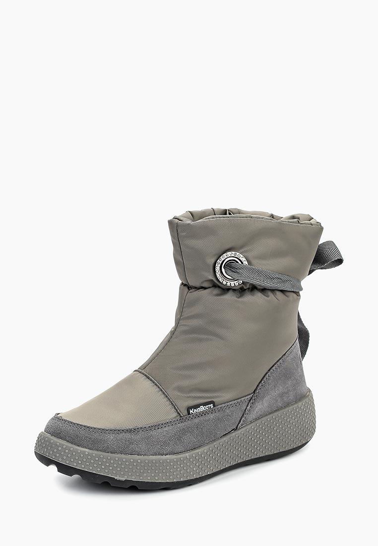 Женские дутики King Boots (Кинг Бутс) KB680GR