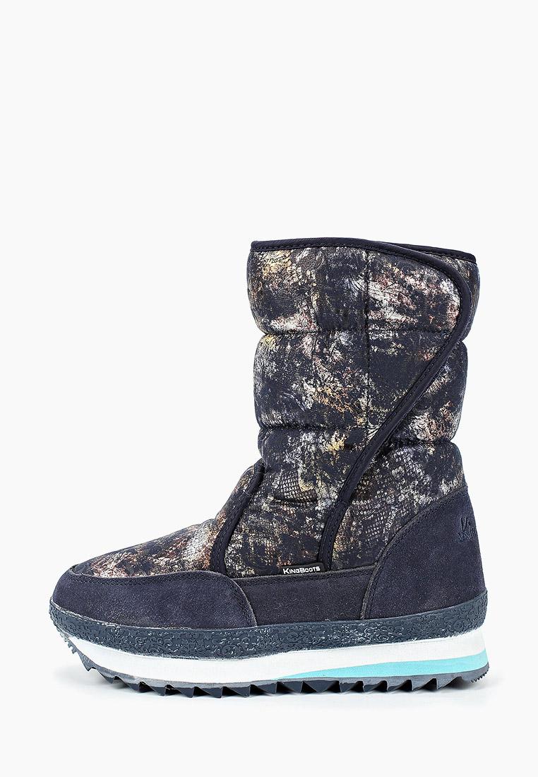 Женские дутики King Boots (Кинг Бутс) KB777BL