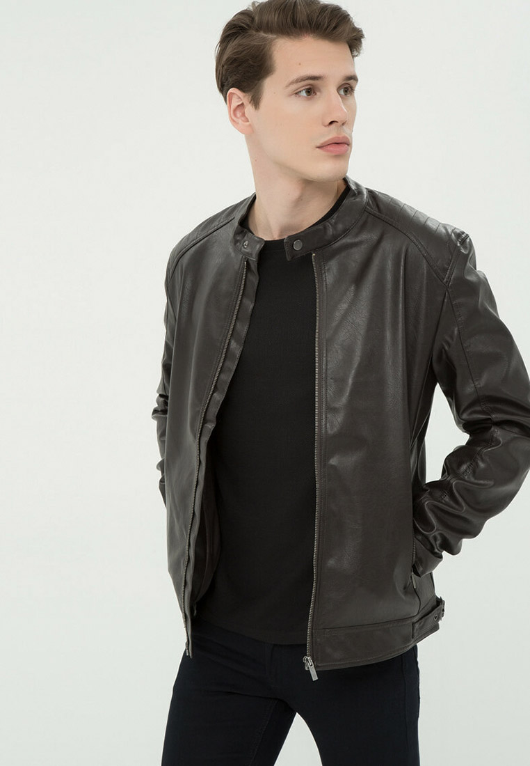 Кожаная куртка Koton 7KAM29023VW