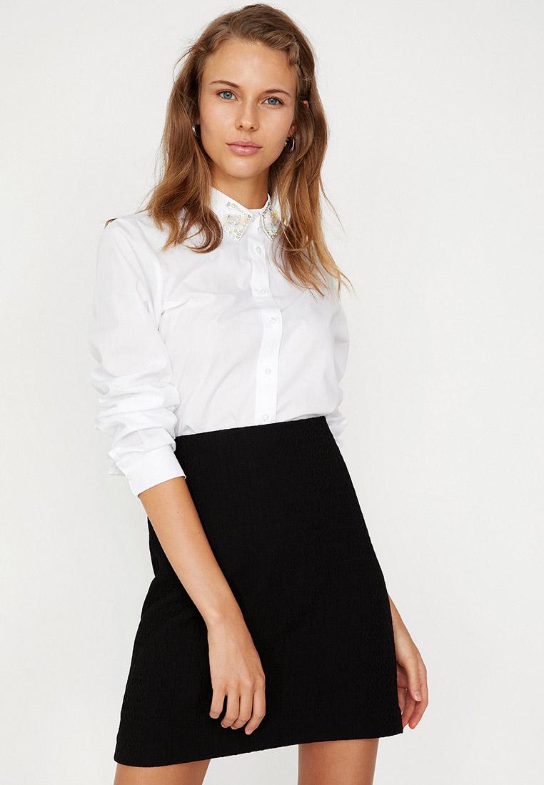 Женские рубашки с длинным рукавом Koton 8YAK68002PW