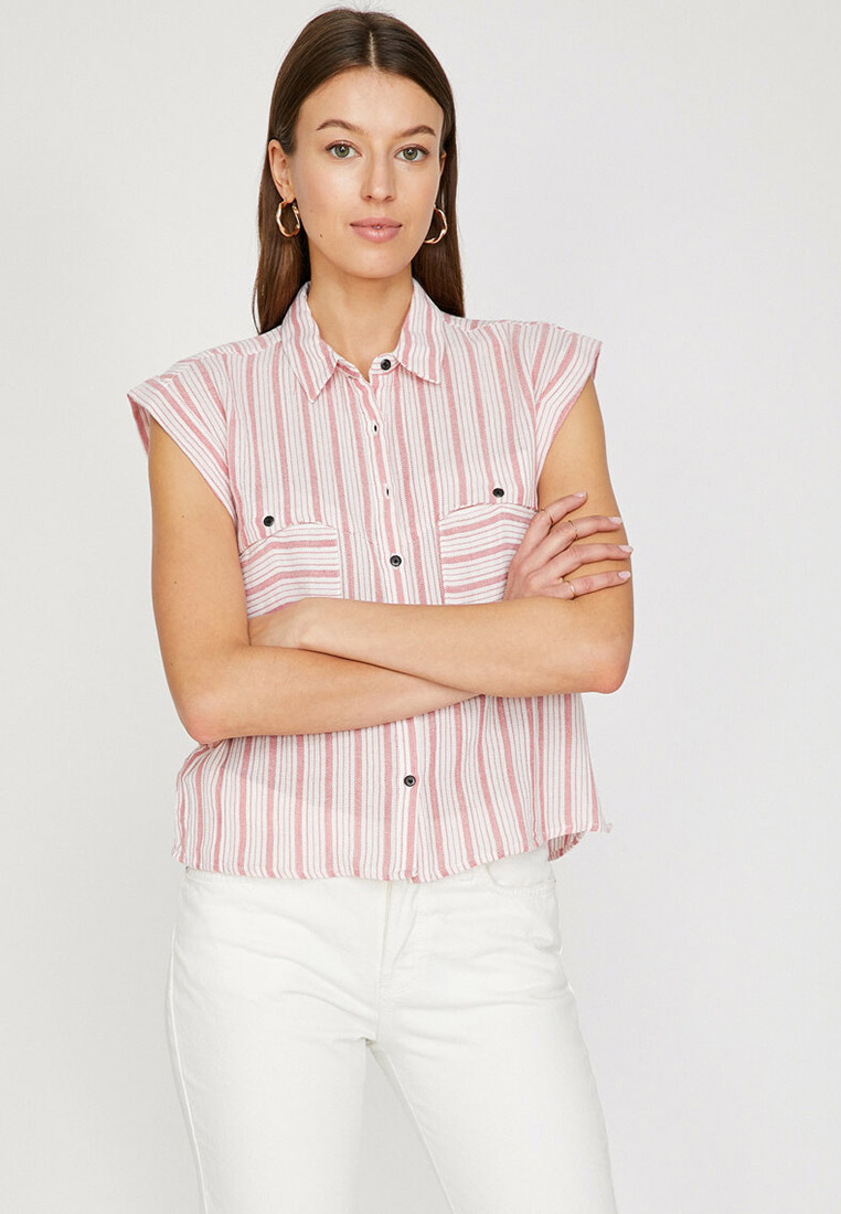Рубашка с коротким рукавом Koton 7YAK63587OW