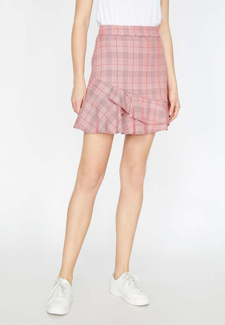 Широкая юбка Koton 9KAK72995UW