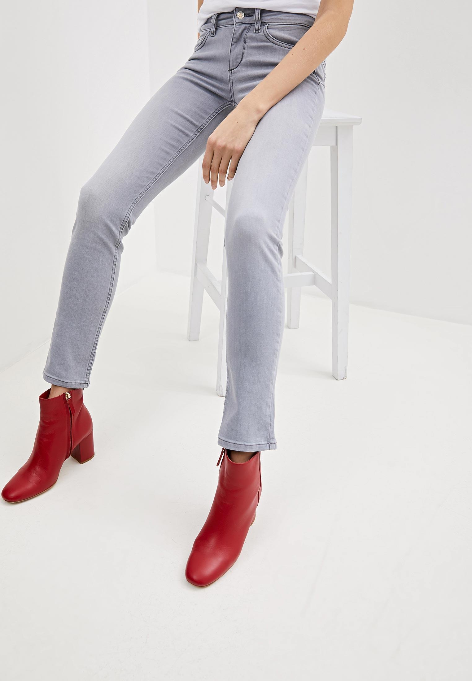 Tamaris pantaloni eleganti Denim jeans da donna in Used-Look Dimensione Breve Pantaloni di tendenza BLU