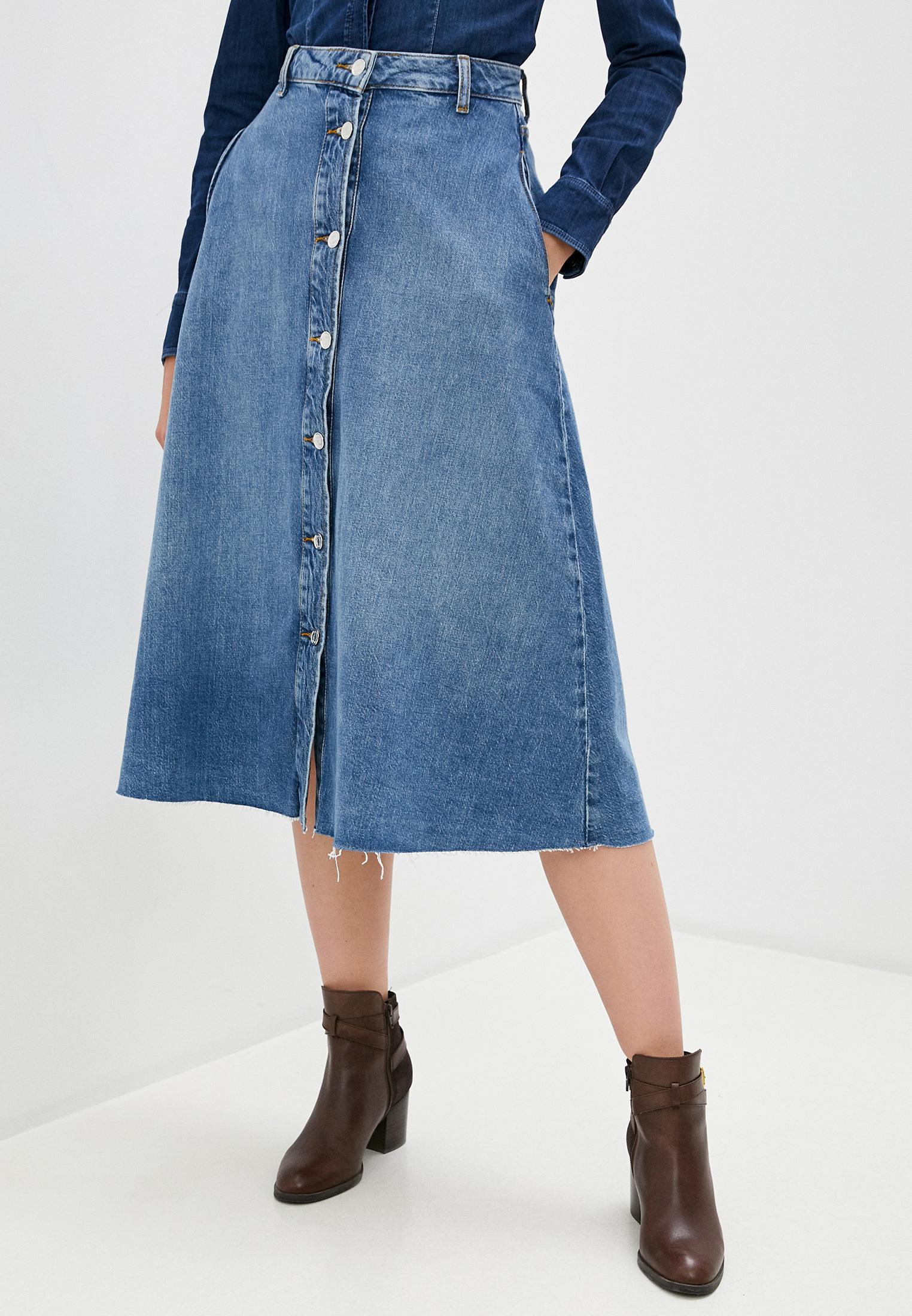 Джинсовая юбка Liu Jo (Лиу Джо) UF0055 D4518