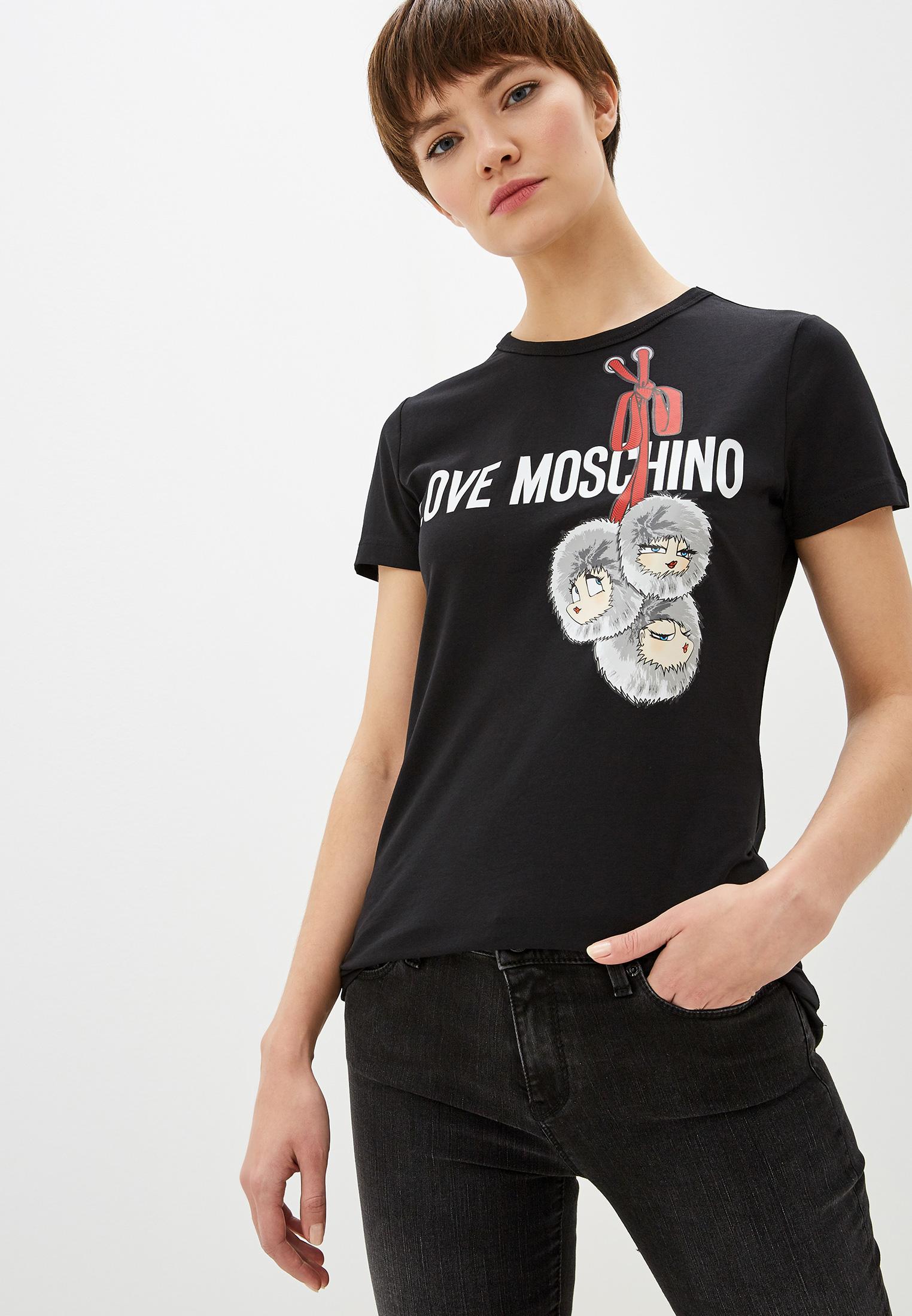 Футболка с коротким рукавом Love Moschino W4F7336E1698C74