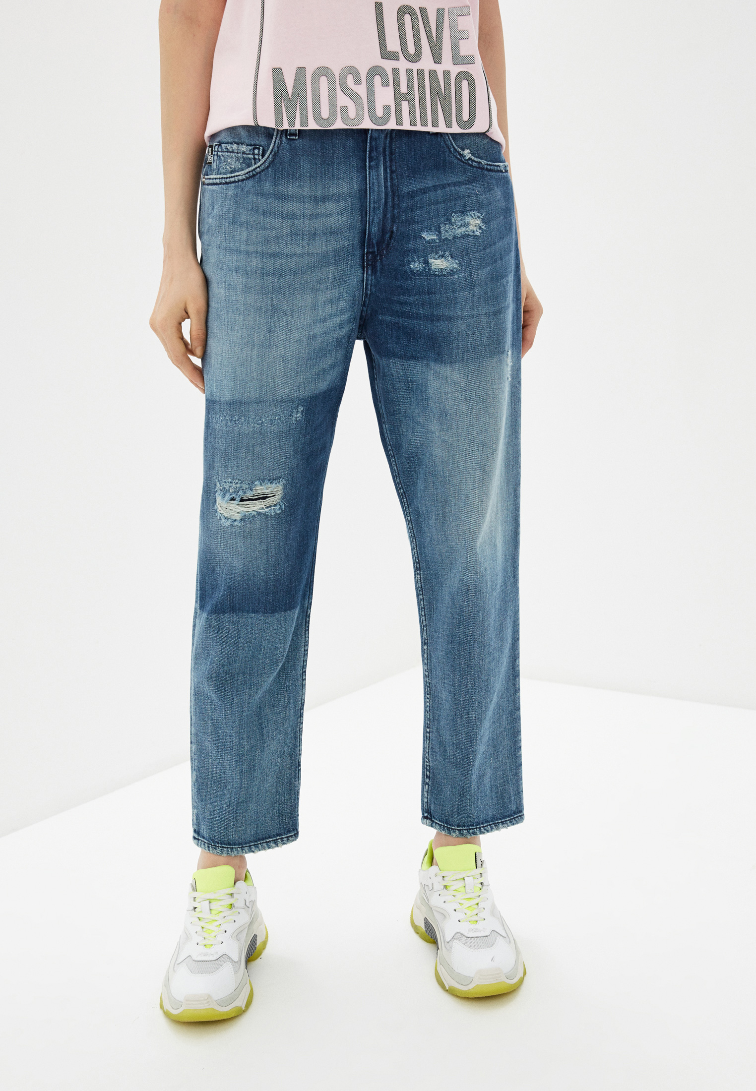 Прямые джинсы Love Moschino W Q 381 7G T 9349