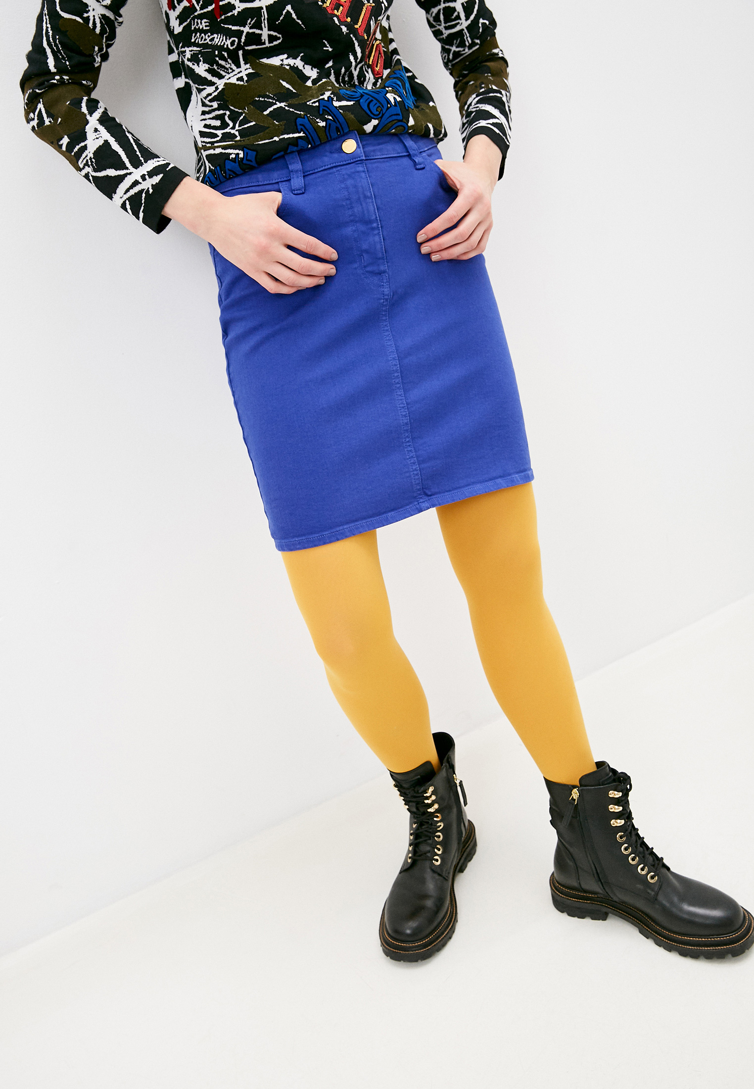 Узкая юбка Love Moschino WGC698CS3349Y29
