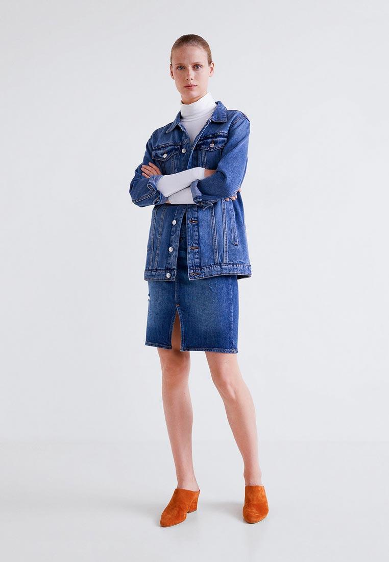 Прямая юбка Mango (Манго) 33093693