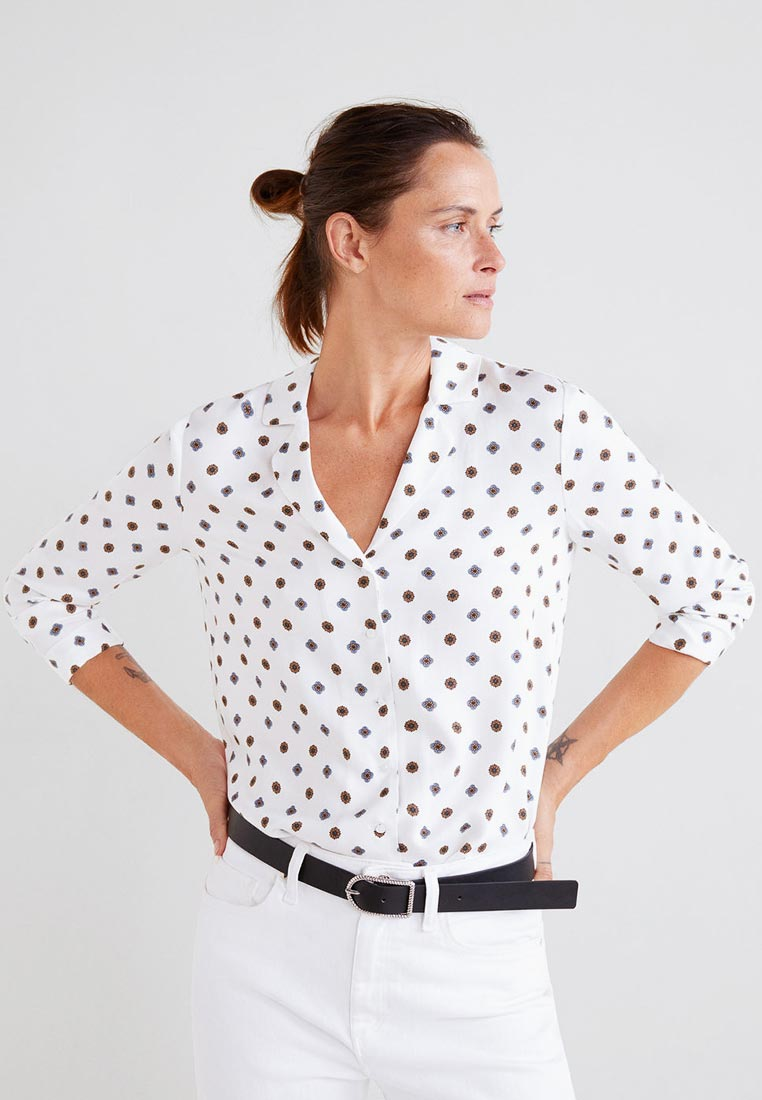 Женские рубашки с длинным рукавом Mango (Манго) 33055755