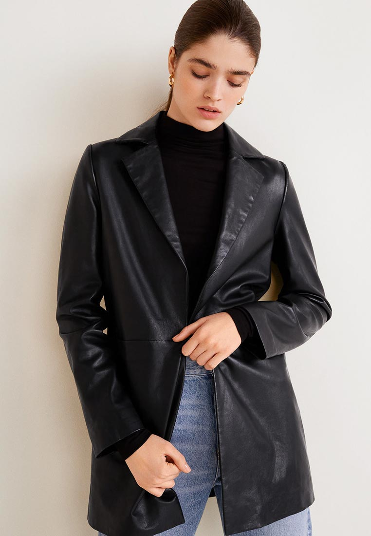 Кожаная куртка Mango (Манго) 33048819