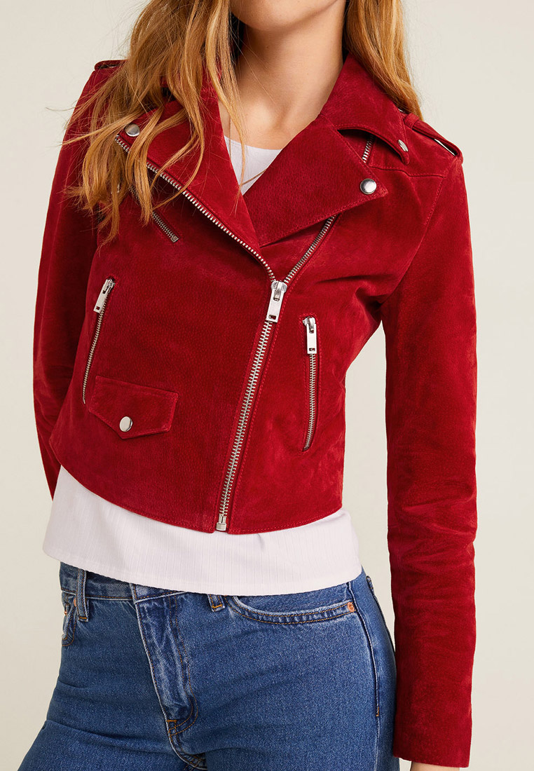 Кожаная куртка Mango (Манго) 53053709