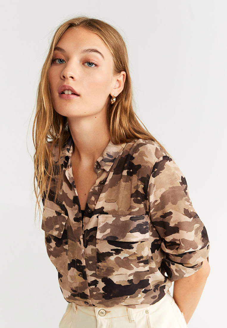 Женские рубашки с длинным рукавом Mango (Манго) 57014005