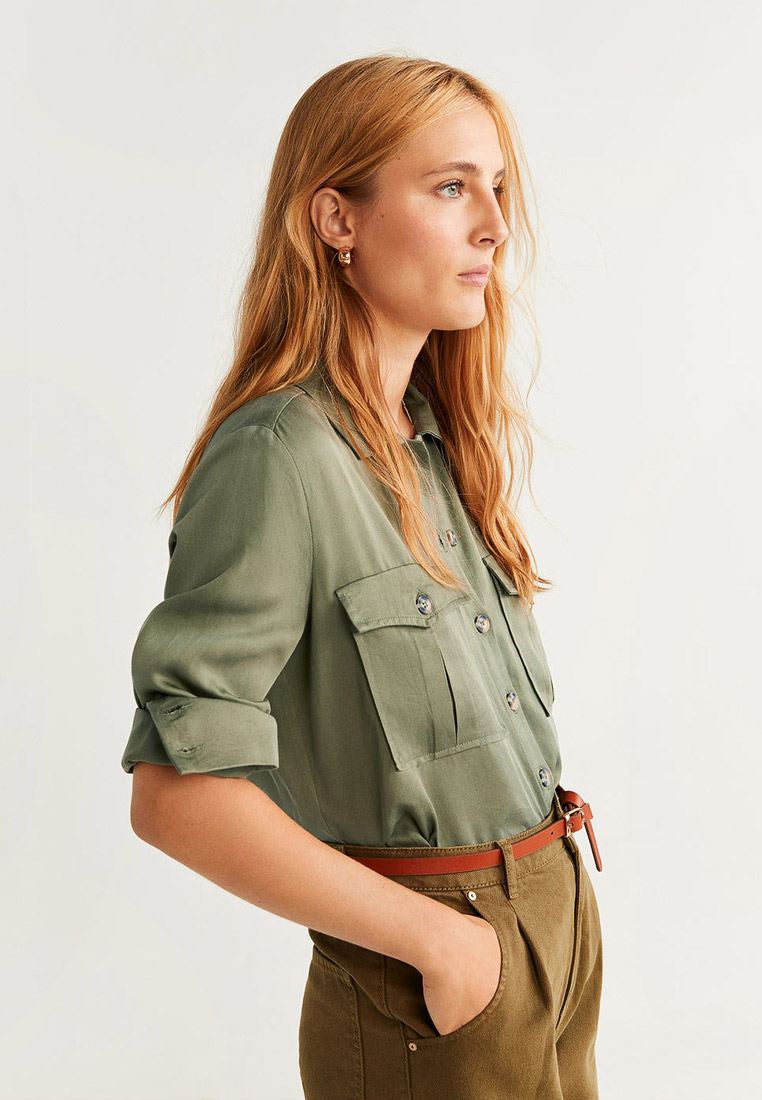 Женские рубашки с длинным рукавом Mango (Манго) 53085767