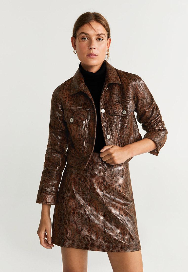 Кожаная куртка Mango (Манго) 53065018