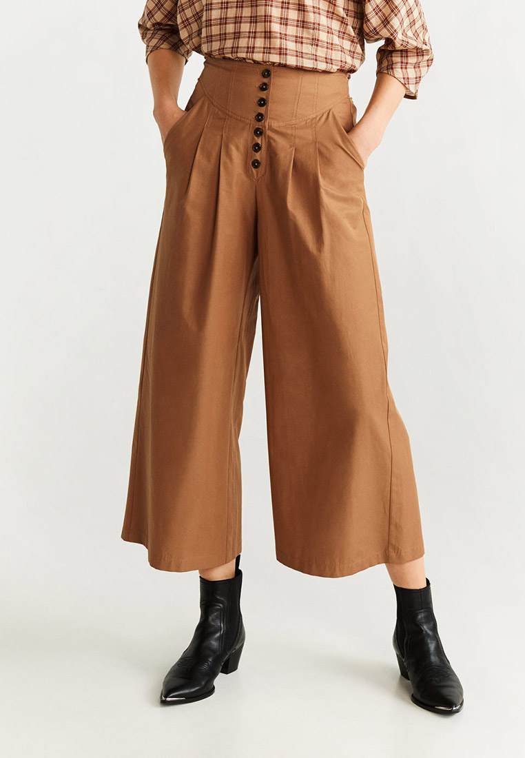 Женские широкие и расклешенные брюки Mango (Манго) 67050035