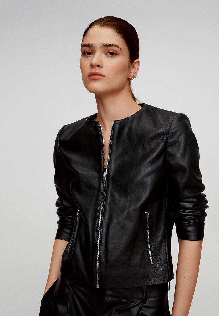 Кожаная куртка Mango (Манго) 67085710