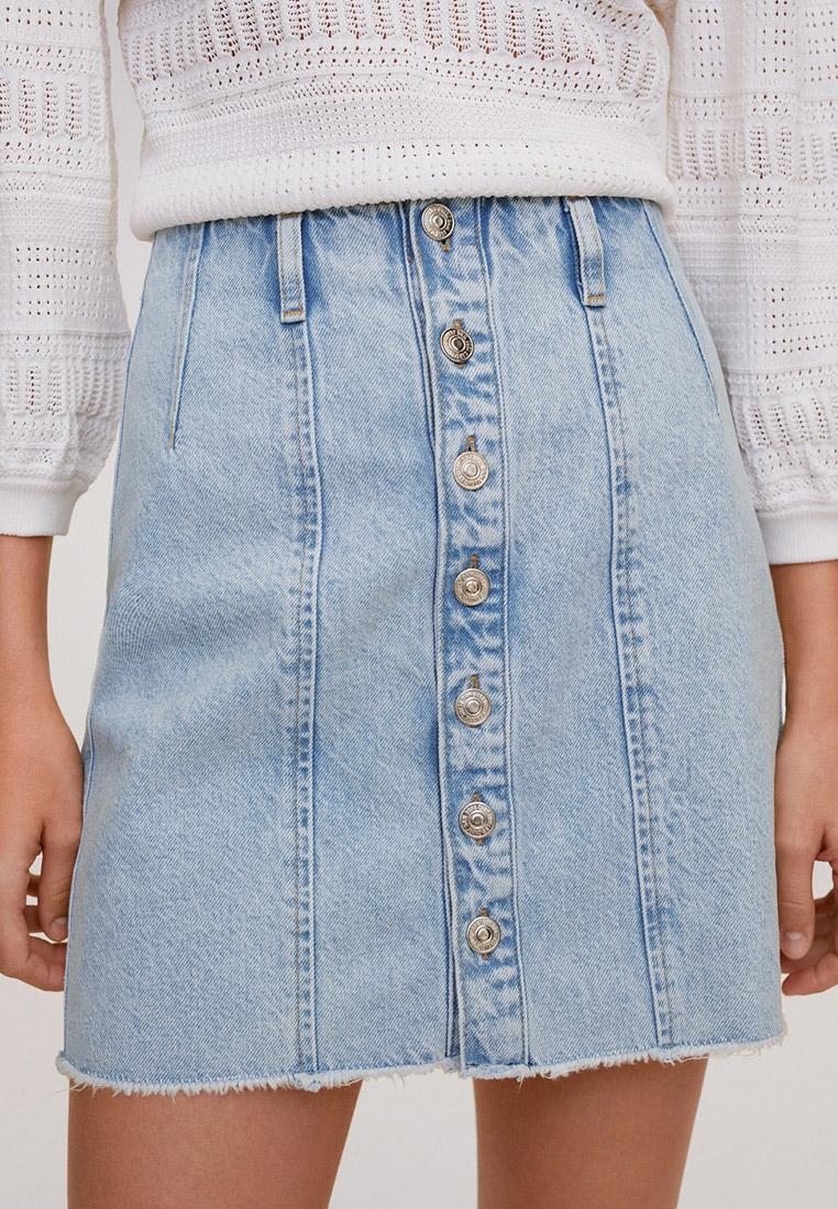 Джинсовая юбка Mango (Манго) 67088264