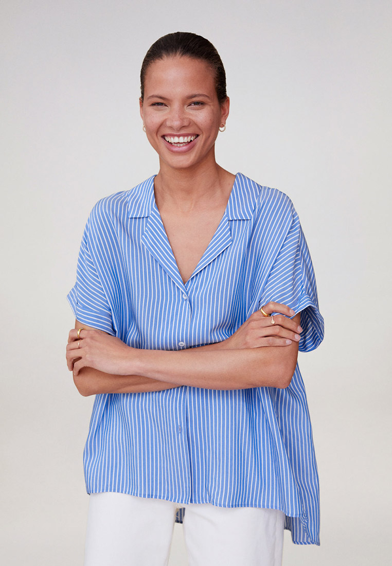 Рубашка с коротким рукавом Mango (Манго) 67027692