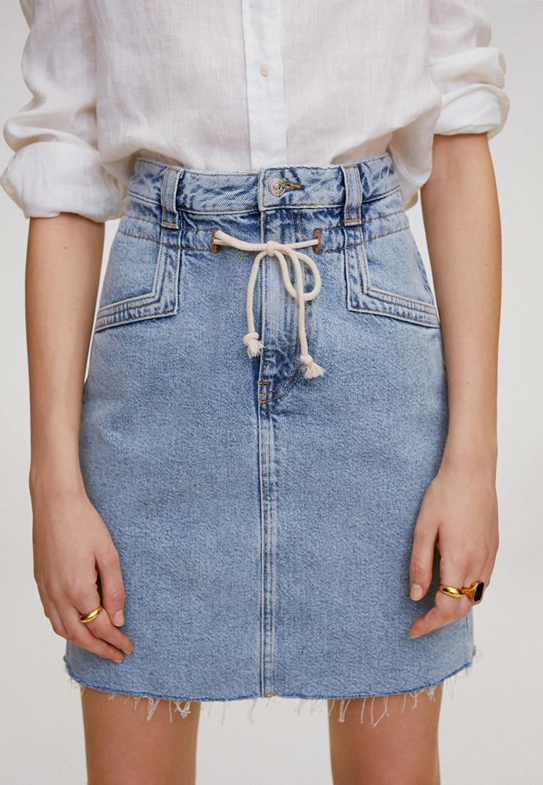 Джинсовая юбка Mango (Манго) 67048265
