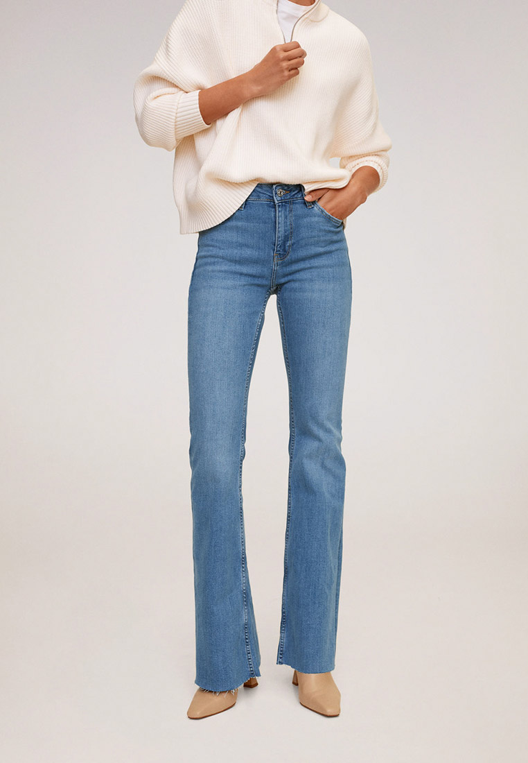 Широкие и расклешенные джинсы Mango (Манго) 77012881