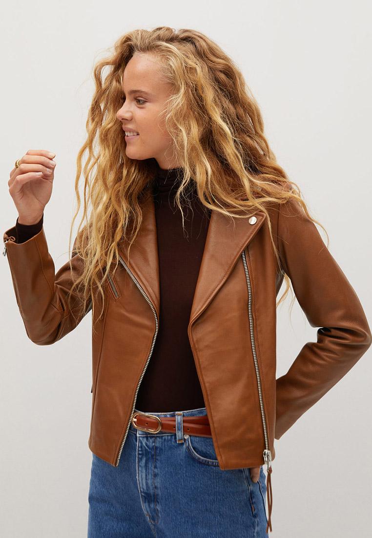 Кожаная куртка Mango (Манго) 77980543